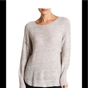 SUSINA Marled High/Low Pullover Sweater